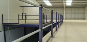 mezzanine floor handrails  | handrails for mezzanine floors and safety barriers