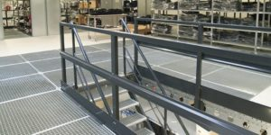 mezzanine flooring handrails and edge protection  | handrails for all types mezzanine floors and safety barriers