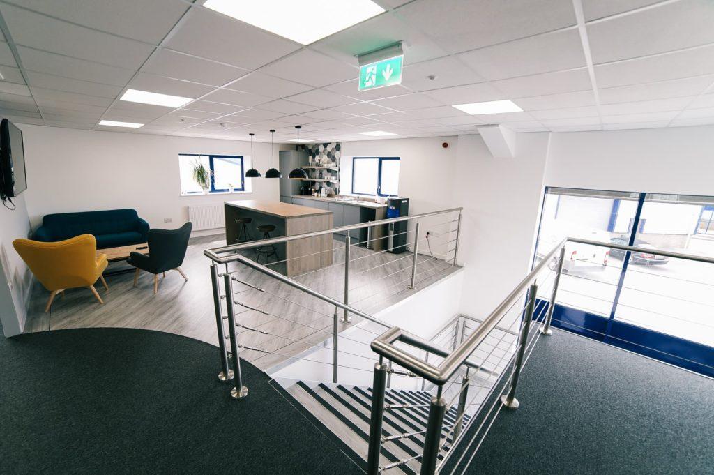 Mezzanine floor office design to suit a mezzanine office in your warehouse! - Contact Mezzanine Floor Ireland on Dublin 01 -6854189