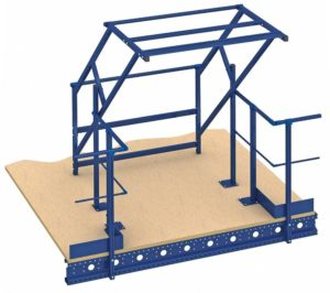 loading gates and safety gates for mezzanine floors | mezzanine floor pallet gates | pallet loading bay for mezzanine floor
